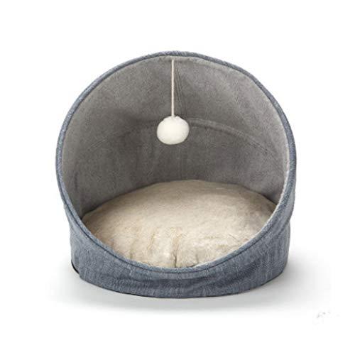 Jfjhcww Halbgeschlossene Katze Wurf Kitten Mat Heimtierbedarf Welpen Warm House Kennel Schlafsack (Material : Pink) -