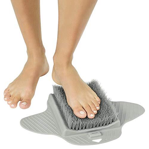 Fußreiniger, Fußschrubber, Massagegerät, Dusche, Badewanne, Boden, Peeling, Spa mit rutschfesten Saugnäpfen -