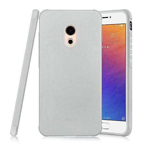 Hevaka Blade Meizu Pro 6 Hülle - Weiche Silikon TPU SchutzHülle Tasche Case Cover für Meizu Pro 6 - Gris