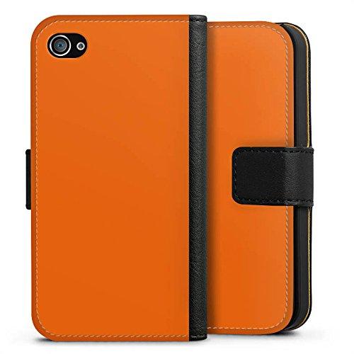 Apple iPhone 8 Hülle Tough Case Schutzhülle Mandarinen Farbe Orange Sideflip Tasche schwarz