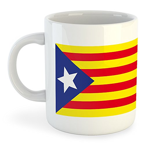 Diseño con un dibujo de la señera estelada, la señera por la independencia catalana.