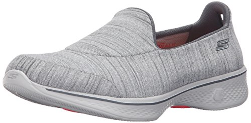 Skechers Go Walk 4-Satisfy, Chaussures de Running Femme gray