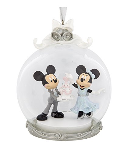 Disney Parks Mickey Minnie Maus Hochzeit Figur Dome Ornament
