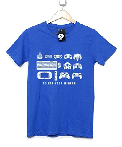 Select Your Weapon Game Controllers Short Sleeved Crew Neck T-Shirt