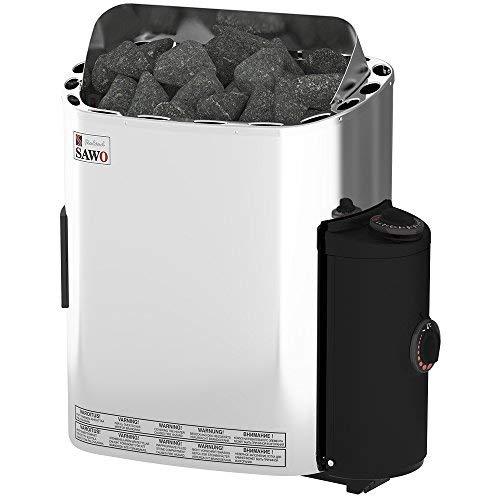 SAWO SCANDIA Elektrische Saunaofen, Leistungsbereich: 4,5 kW; 6,0 kW; 8,0 kW; 9,0 kW; mit integrierte Steuerung (NB-Modell); Multispannung: entweder Einphasig oder 3-Phasig;