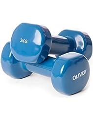 Oliver vinylhantel paire d'haltères de force musculaire 3,0 kg (petrol) 1 Paar