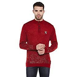 Duke Men Casual Sweater 1968078031 Red Coloured X-Large
