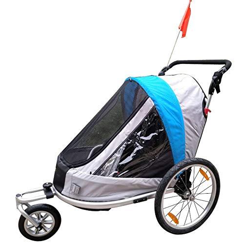 Susulv-baby 2-in-1 Doppel 1-Sitzfahrrad-Fahrrad-Anhänger Jogger Kinderwagen for Kinder Kinder |Faltbare zusammenklappbare W/Pivot Vorderrad Konvertiert zu Kinderwagen/Jogger -