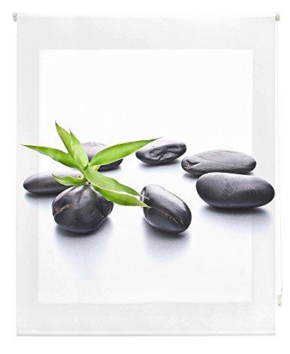 HappyStor HSCZ2617 Estor Enrollable Estampado Digital Zen Tejido Traslúcido Medida Total Estor:170x250 (**Solo Ancho Tela:166-167cm.**)