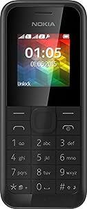 Nokia 105 double SIM - feature phone GSM, Écran QQVGA amélioré 1,8 pouces, Coque ultra résistante en polycarbonate - Noir