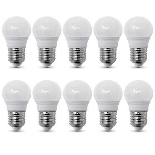 10-er Pack - ZONE LED SET - E27-3W - LED Birne, G45, Tropfenform - Weisses Licht (6400 K) - 250lm - Entspricht 24W - 180° Abstrahlwinkel (3 Lampen-set)