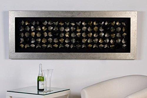 Bild Cubes Holz/Glas. silberner RahL.160cm - Glas-cube-bild