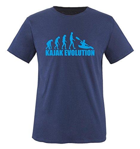 KAJAK EVOLUTION -Herren T-Shirt in Navy/Blau Gr. XL