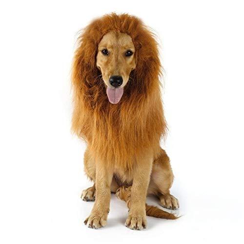 Dress Für Up Halloween Ohne Kostüm - GzPuluz Hundekleidung Fancy Dress Up Pet Kostüm Halloween Kleidung Hunde Lion Mähne Perücke (Hellbraun ohne Ohren) (Farbe : Light Brown Without Ears)