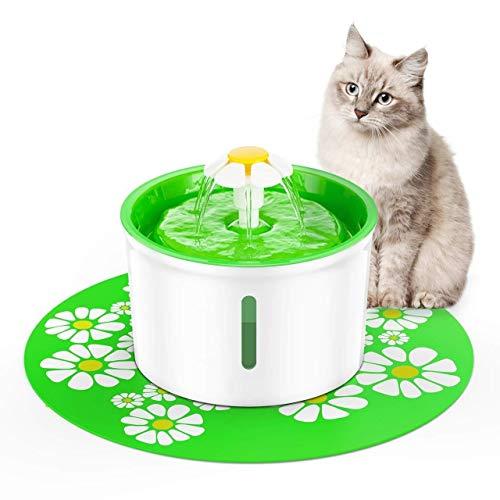 Haustiere Trinkbrunnens Automatischer Haustier-Wasser-Brunnen-Haustier-Wasserspender for Katze, Haustier-Wassertrinker-Wasser-Zufuhr 1.6L Katzen-Artefakt-lebender Wasserbecken-Zyklus