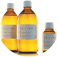 Preisvergleich für PureSilverH2O 1100ml kolloidales Silber (2x 500ml/25ppm) + Flasche (100ml/50ppm) Reinheit & Qualität seit 2012