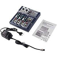 F-4 4 Canales EU Plug 230V Live Mixing Studio Audio Consola de Sonido Red Anchor Dispositivo de Mezcla portátil Procesador de Efectos vocales