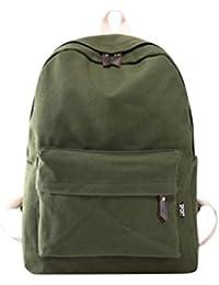 mochilas escolares juveniles Sannysis bolsos de mujer mochilas de viaje (ejercito verde)