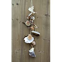 Muschelgirlande Hängedeko Muschelkette MARITIM natur 5tlg. Baddeko Sommerdeko Stranddeko Beachdeko Fensterdeko Geschenk