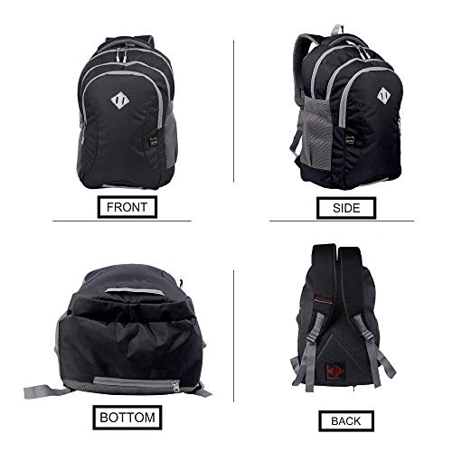 JAPSBAG 30 Ltrs Casual Waterproof Laptop Backpack Bag for Men Women Boys Girls/Office School College Teens & Students with Free RAIN Cover (Black) Image 5