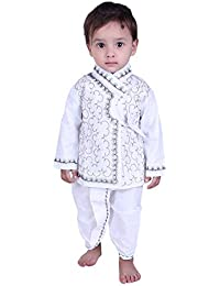 881941b96 Looks United Boys Festive & Party Ethnic Embroidered Kurta and Dhoti ...