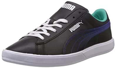 Puma Men's Archive Lite Lo Fil Black and Electric Green Sneakers - 6 UK/India (39 EU)