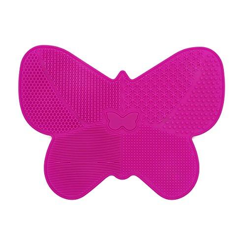 tappetino per pulizia pennelli, forma di farfalla trucco spazzola per aspirapolvere con ventosa