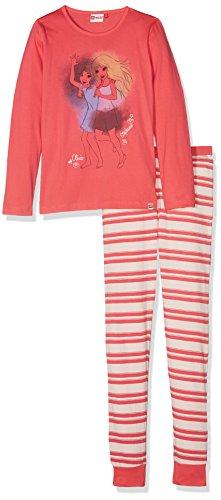 LEGO Wear Mädchen Zweiteiliger Lego Girl Friends Nevada 728-Schlafanzug/Pyjama, Rosa (Coral Red 331), 116 (Olivia Schlafanzug)