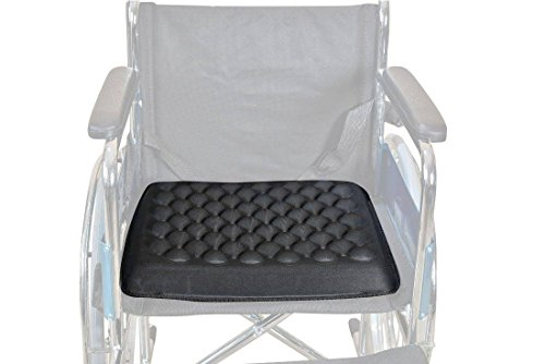 JSB BS54 Gel Support Wheelchair Seat Cushion (16' X 16') Breathable Design