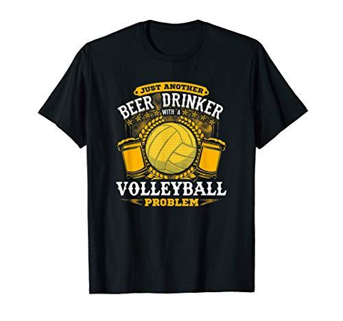 Biertrinker mit Volleyball-Problem! Lustiger Volleyball T-Shirt -