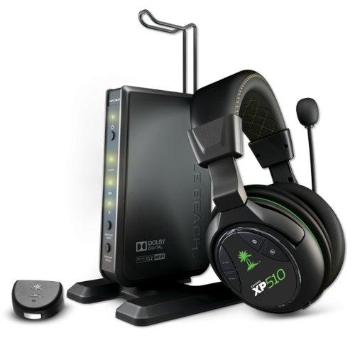 Turtle Beach XP510XP600Kopfband Schwarz, Grün Headset-Kopfhörer mit Mikrofon (Spielekonsole, Kopfband, Schwarz, Grün, verkabelt/kabellos, 2,5mm, USB) 01 Xbox 360 Headset