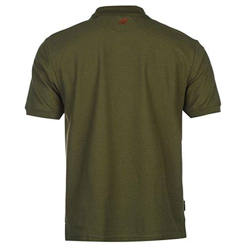 Diem Herren Polo Poloshirt T Shirt Tee Top Kragen Kurzarm Freizeit Angeln Grün