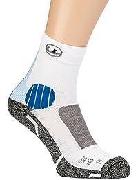 Ultrasport Coolmax - Calcetines de Correr Unisex, Color Blanco/Azul, Talla 43-