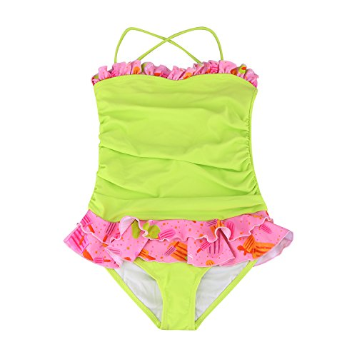 0275d55c14 MAX Girls One Piece Swimsuit,Sleeveless Ruffle Swimwear, from 2 Years (