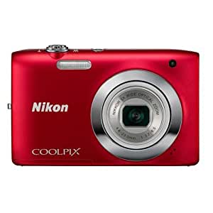 Nikon Coolpix S2600 14MP Point-and-Shoot Digital Camera (Red) with 4GB Card, Camera Pouch
