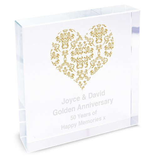 romantic-golden-damask-heart-glass-crystal-block-personalised-engraved-personalised-gold-damask