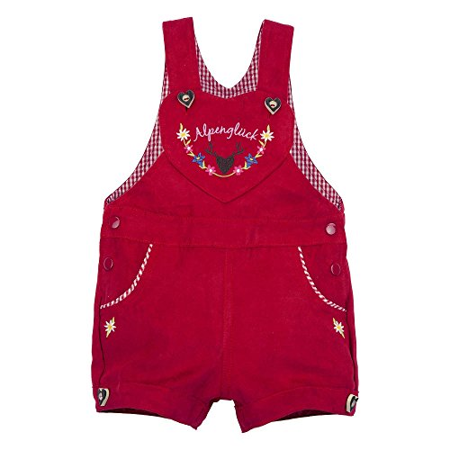 BONDI Trachten Latzshort, rot 104 Tracht Baby Mädchen Artikel-Nr.85615