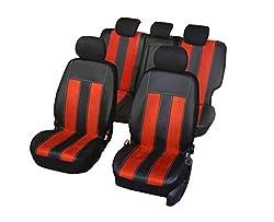 Farbe Premium Schwarz Effekt 3D Mokka Sitzbez/üge 1 Set