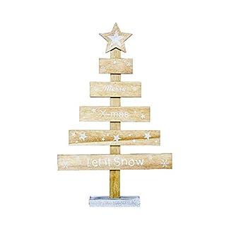 iTemer Decoraciones navideñas de Madera Letras Creativas Adornos para árboles de Navidad Pintados Decoraciones navideñas Tarjetas de Mesa Beige