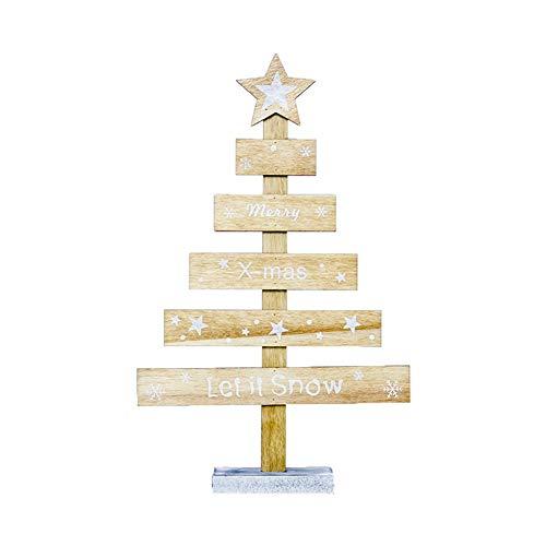 iTemer Decoraciones navideñas de Madera Letras Creativas Adornos para árboles de Navidad...