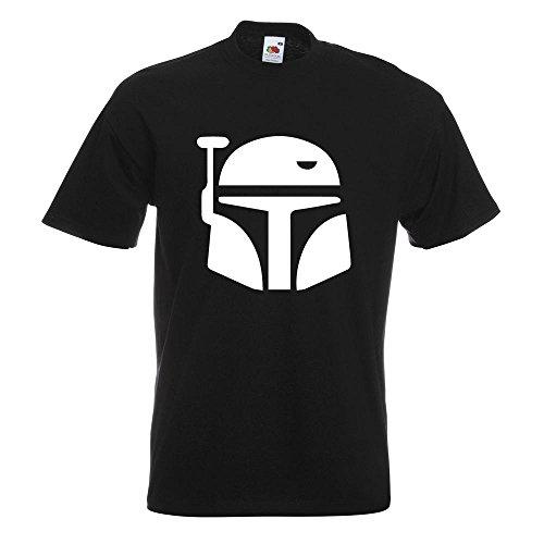 KIWISTAR - Boba Fett Helm T-Shirt in 15 verschiedenen Farben - Herren  Funshirt bedruckt