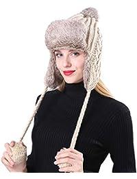 Amazon.es  gorro orejeras - Gorros de punto   Sombreros y gorras  Ropa 3f6d610663f