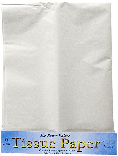Das Papier Palace Seidenpapier, Weiß, 51x 76cm, 5Stück Blatt