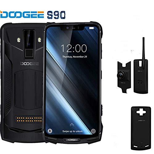 """DOOGEE S90 Super - Smartphone para Android 8.1 Polyvalent pour l'extérieur + Talkie-Walkie, 5050mAh 6Go + 128Go, FHD 6,18 """"+ écran X-NUMX, NXX, NexX, IP19 étanche et Antich."""