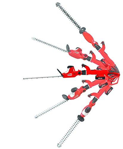 Grizzly Akku Kombi Heckenschere AKHS 18 Set, 2 Heckenscheren zu 1 Preis, 2x 18 V Akku, 45 cm Messerlänge, 4 m Schnitthöhe