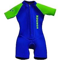 Kounga Little Diver Traje de Surf, Unisex niños, Azul/Verde, 6