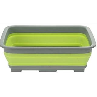 AiO-S - OK Spülschüssel Tischschüssel Campingschüssel klappbar Faltbar Faltbox grün