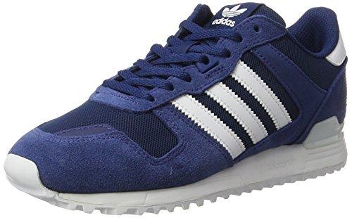 sale retailer cc641 ca34c adidas ZX 700, Baskets Basses Homme, Bleu Footwear White Mystery Blue, 43