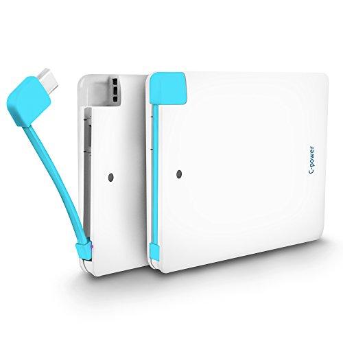RS C-power AKKU 4000mAh POWERBANK für Apple IPHONE und SAMSUNG Ultra DÜNNE Kreditkarten-Format KLEIN LEICHT und SUPER Kapazität