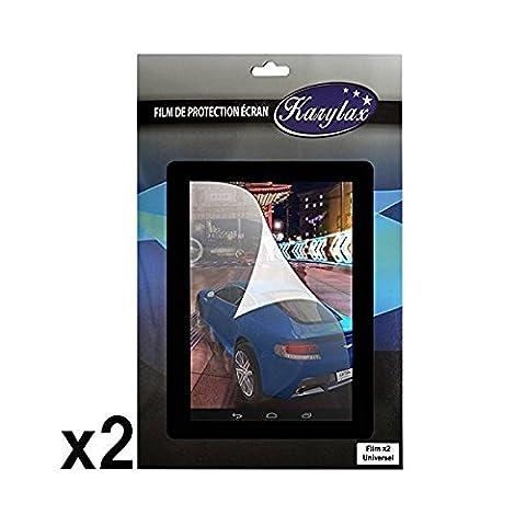 Seluxion - Pack de 2 Films de Protection d'Ecran Universel M pour Tablette Polaroid Infinite+ 7